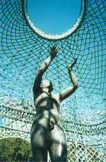 der sog. Adorant auf der Terrasse von Schloß Sanssouci