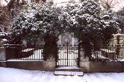der Bornstedter Friedhof im Winter